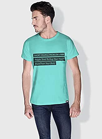 Creo Short People Problem Funny T-Shirts For Men - L, Green