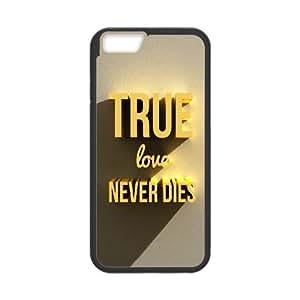 iPhone 6 Plus 5.5 Inch Cell Phone Case Black True love never dies Bulwk
