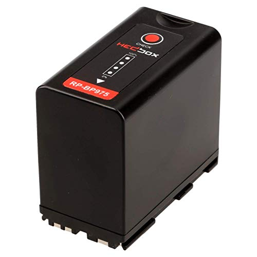 HEDBOX | RP-BP975 | Li-Ion Battery 7800mAh, Compatible for Canon BP-970G, BP-975 and EOS C100 Mark II, C300, C500, GL2, XF100, XF200, XF300, XH A1S, G1 Camcorders