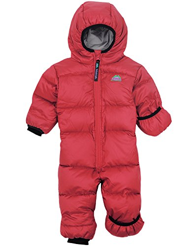 molehill Down Bunting Suit (700 Down Fill), Red, 3/9 (Infant Down Bunting)