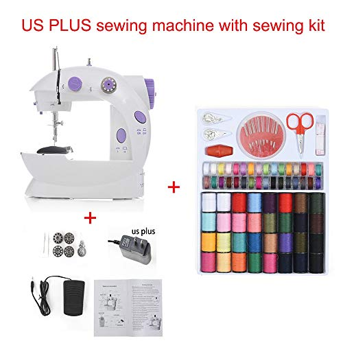 - Mini Sewing Machine 2019 Portable Handheld Sewing Machines Stitch Sew Needlework Cordless Clothes Fabrics Electrec Stitch Set 16 (Sewing Machine with Kit)