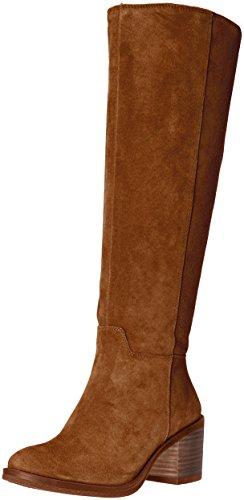 Lucky Brand Women's Ritten Riding Boot,Honey,8 M US - Tall Brown Suede Boots
