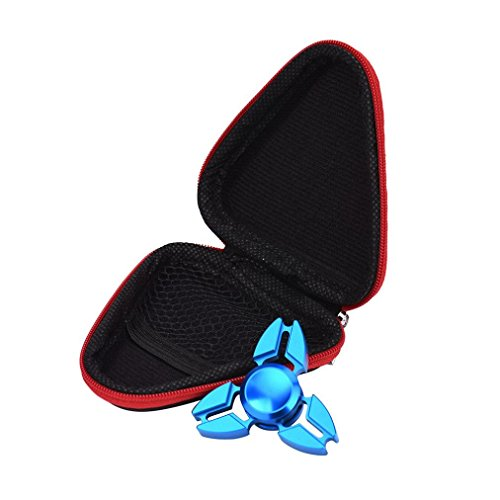 Price comparison product image Kshion Fidget Hand Spinner Triangle Finger Toy Focus ADHD Autism Bag Box Carry Case Packet (Red)Only Case)