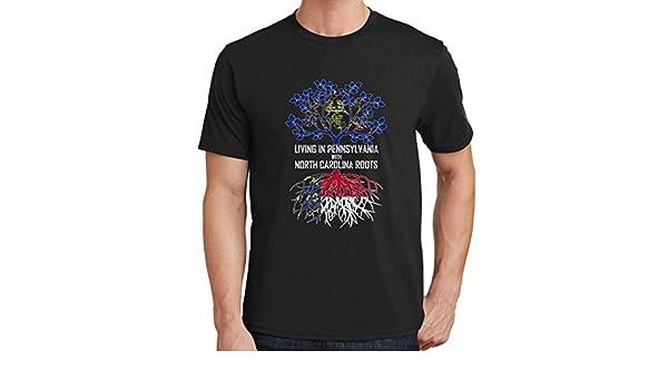 Tenacitee Mens Living in California Arizona Roots T-Shirt