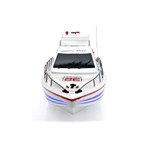 "RC Racing Boat ""Atlantic"" - 40Km/Hour Top Speed, Professional 380 Class Dual Motor"