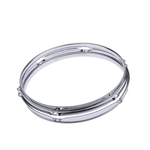D DOLITY 2pcs 13inch 6 Lugs Tom Drum Rim Batter Hoops Replacements (Tom Mount 6 Lug)
