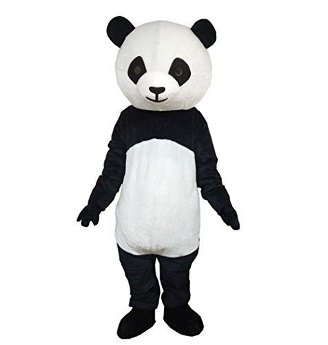 Plush Panda Mascot Costume Adult Size Cartoon Halloween Party Dress Suit -
