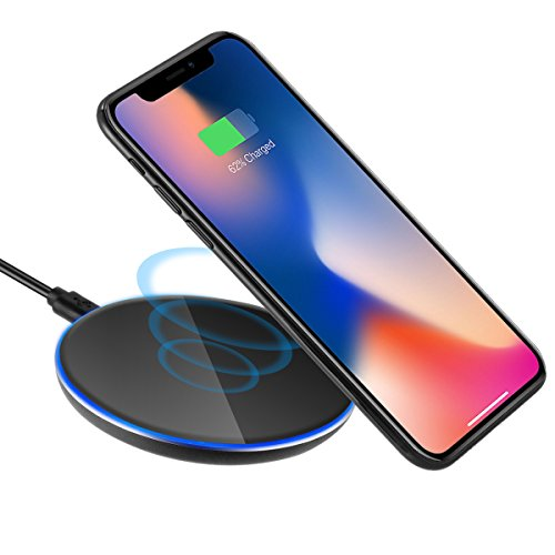 QI Wireless Charging Charger LED Pad Plate For Samsung Galaxy, iPhone 8 / 8 Plus, iPhone X, Nexus 5 / 6 / 7,and Other Devices,Provides Fast-Charging for Galaxy S8/ S8+/ S7 / S7 edge / S6 edge+, Note 5
