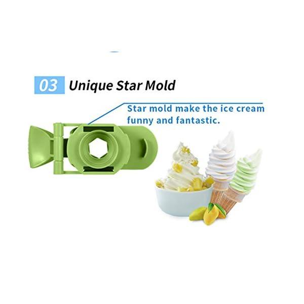 Ice Cream Maker, 1L Automatico Macchina del Gelato con Rimovibile Ice Cream Container E Pala del Silicone, Gelato Makers… 5 spesavip