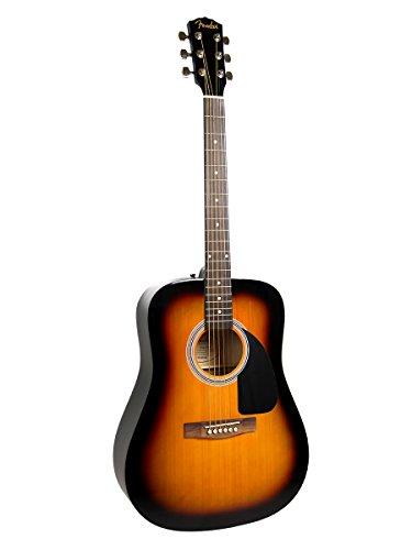 Fender FA-100 Dreadnought Acoustic Guitar - Sunburst Bundle with Hard Case, Tuner, Strings, Strap, and Picks - Image 2