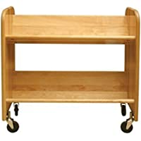 Catskill Craftsmen Rol-Rack with Tilted Shelves, Natural Birch