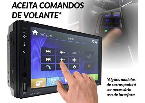 "Central Multimídia MP5 7"" BT AUX FM MIC Espelhamento RS-505MP5BR - Roadstar"