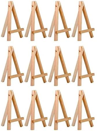 Mini Wooden Cafe Table Number Easel Wedding Place Name Card Holder Stand VE