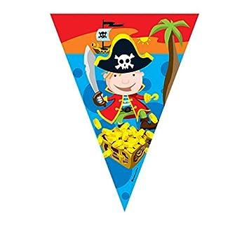 Banderillas de Piratas para Cumpleaños de 3 m.: Amazon.es ...