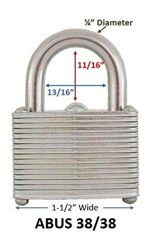 ABUS Pack of 12 Economy Laminated Steel Warded Padlock, 1-3/4'' wide, Keyed Alike