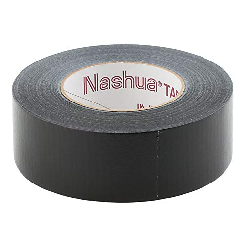 Nashua 2280 Polyethylene Coated Cloth General Purpose Duct Tape, 9 mil Thick, 55 m Length, 48 mm Width, Black