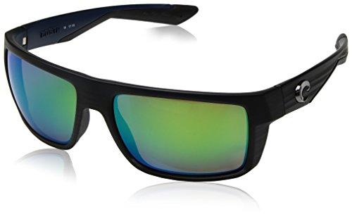 Costa del Mar Men's Motu Polarized Iridium Square Sunglasses, Black Teak Framegreen Mirror 580P, 57.4 - Mar Costa Del Sunglasses Clear