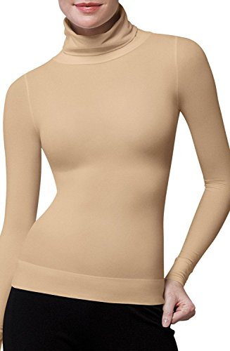 Top Gold Scrub (Spanx 973 On Top and In Control Classic Chic Turtleneck - Medium)