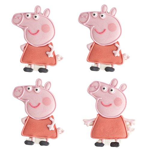 Peppa Pig comestible glaseado de tartas conjunto de 4 ...