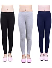 Girls Leggings 3 Pack Cotton Solid Size 4-16 Spring/Fall