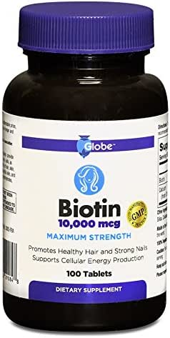 BIOTIN 10,000 mcg Maximum Strength Tablets, 100-Count