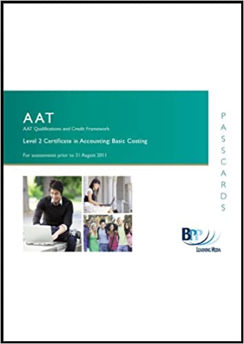 AAT - Basic Costing: Passcards