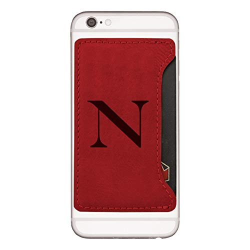 (Northeastern University-Cell Phone Card Holder-Red)