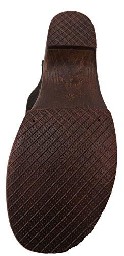 Damen Trachtenschuhe Trachtenclog mit Herz aus Leder braun mit Holzsohle Gr.38