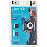 Kit Mp3 Player 80 mAh + Cartão de Memória Micro SD até 20MB/s 8GB + Cabo Micro USB Preto Multilaser - MC300