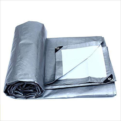 レインクロス、防水、防塵、耐摩耗、日焼け止め用防水シート、ラッピングホーン (Color : Silver, サイズ : 8m × 10m) 8m × 10m Silver B07P8DG9N9