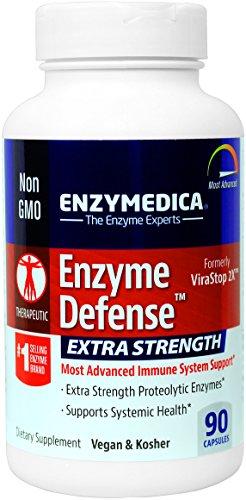 Enzymedica - enzima defensa Extra fuerte, más avanzado soporte del sistema inmune, 90 cápsulas