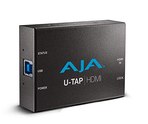 Aja U-TAP-HDMI-R0 HD/SD USB 3.0 Capture Device with Hosa HDMA-403 High Speed HDMI Cable, 3 ft.
