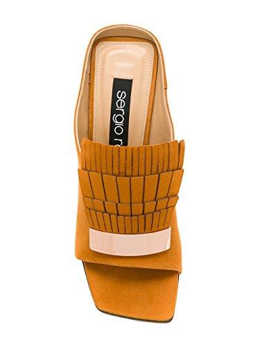 Sergio Rossi Mujer A78170MCAZ012534 Naranja Cuero Zapatos de Tacón