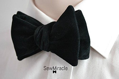 43dbc2c943f53 Image Unavailable. Image not available for. Colour: Black velvet bow tie ...