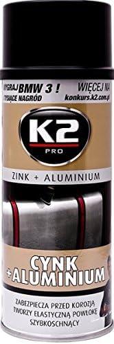 K2 Zink Aluminium Spray Temperatur Hitzebeständig Bis 120 C Korrosionsschutz Rostschutz Zinkspray 400ml Auto