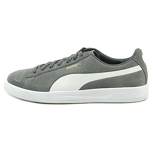 PUMA Mens Suede Ignie Suede Low Top Lace Up Fashion Sneakers Quiet Shade/ Puma White s5Ca090B