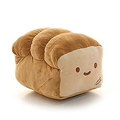 Bread 10'', 15'' Plush Pillow Cushion Doll Toy Home Bed Room Interior Decoration (15 inches)