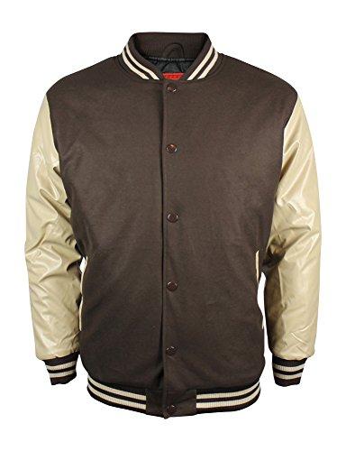New Men's Two Tone Baseball Letterman Varsity Bomber Jacket