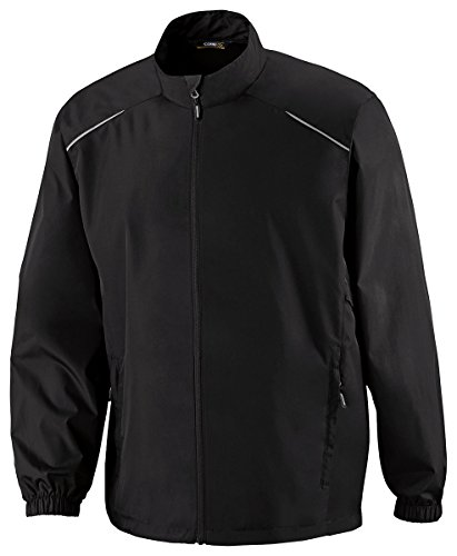 Jacket Track Core (Ash City - Core 365 Motivate Men's Tall Unlined Lightweight Jacket, Black, XXX-Large Tall)