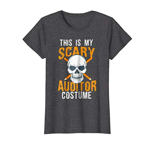 Womens Funny Scary Auditor costume Tee shirt for Halloween 2017 XL Dark Heather