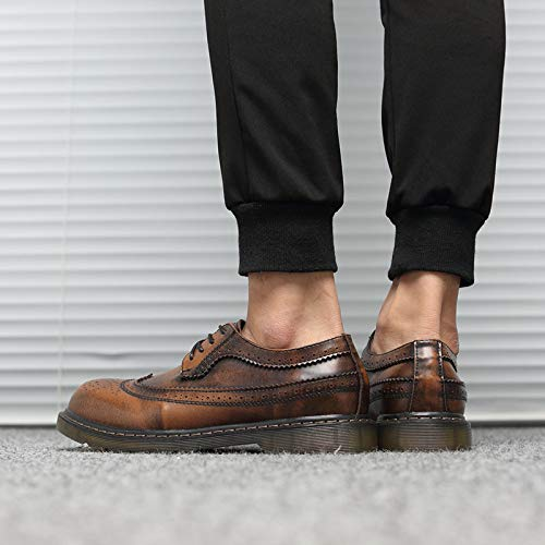 Stringate Style Punk Nero EU Scarpe Brown Uomo Nero 40 SOw76U