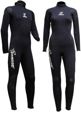 Seavenger 3mm Full Suit Flatlock Stitching Jumpsuit with super-stretch armpit Men Women Wetsuits