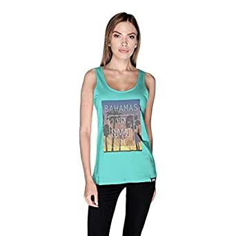 Creo Bahamas Beach Tank Top For Women - M, Green