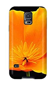 Tpu Fashionable Design Yellow Flowers Rugged Case Cover For Galaxy S5 New