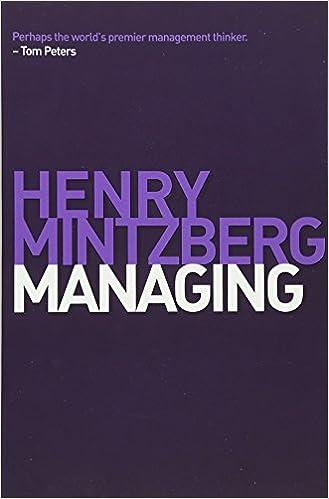 Managing: Henry Mintzberg: 9781605098746: Amazon com: Books