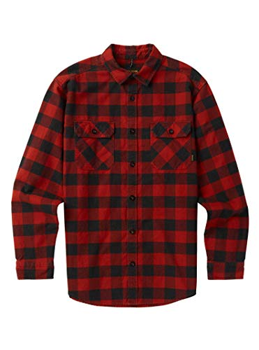 Burton Men's Brighton Flannel Down Shirt, Bitters Heather Buffalo Plaid, Small