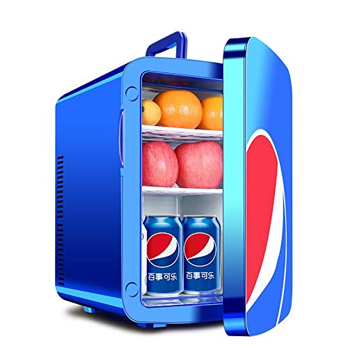ZXZV Car Dual-core Refrigerator 15L Portable hot and Cold Small Refrigerator Mini Household Refrigerator refrigerated Incubator, Travel/Party/Dinner/Camping (Color : Blue, Size : Dual core) by ZXZV