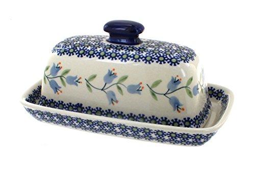 Blue Rose Polish Pottery Tulip Butter Dish (Blue Rose Pottery Butter Dish)