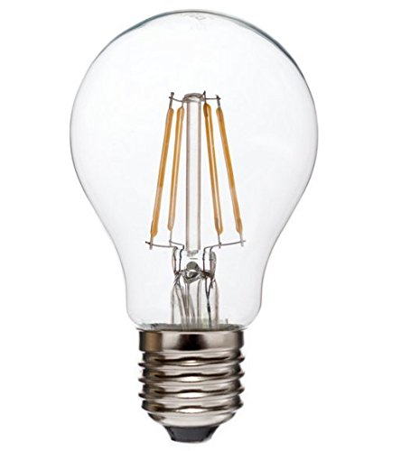 Whirled Planet LED Filament Edison Light Bulb - Dimmable Warm White 6W - 60W Equivalent UL Listed A19 E26/27 Base 2700K