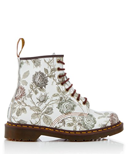 1460 up Boots Made Martens England Lace Floral UK Grey in Dr Size Women's Leather 3 wxXPqFaT